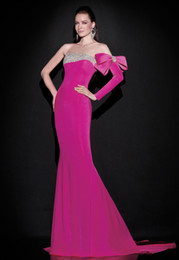 Wholesale Evening Dresses Red Carpet Strapless Rosette Dress Advanced Customization Embroidery Drilling High End Toast Sexy Fishtail Bridesmaid Dress