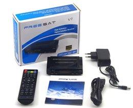 Wholesale Satellite Receiver Boxes - Best set-top box Freesat V7 HD satellite receiver 1080p Full HD DVB-S2 HD + 1PC support USB WIFI 3G