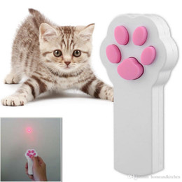 Wholesale DHL New Funny Pet Cat Dog Interactive Automatic Red Laser Pointer Exercise Toy