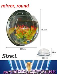 Wholesale Size L ML about x29 x14cm Aquarium Fish Tank Wall Hanging Mounted Bubble High Quality Acrylic Home Decoration Pot MYY166
