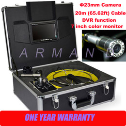 Pipe Inspection Camera System Sewer Pipeline Surveys 710D DVR Video recording 8GB SD card Industrial Endoscope