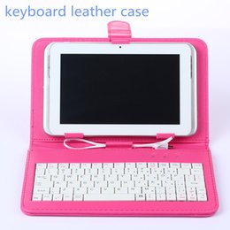 Wholesale Universal Tablet PC Cover Micro USB Port Keyboard Case for tablet pc Inch Tab with Stand Holder OTG PU Leather Cases