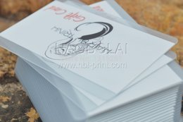 Wholesale transparent frosted card clear frosted business card overlay screen print white backer free shipment
