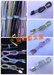 Wholesale 2016 New Hot Sale Micro Usb Usb Metallic Silver Wire Data Lines Bright Colors Charging Universal Line Style Beautiful Feel Very Durable
