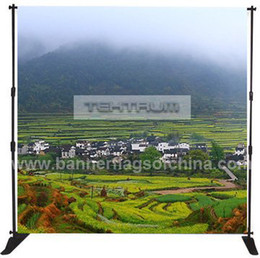 Wholesale Adjustable x8 Step And Repeat Backdrop Telescopic Pop Up Banner Stand System For Trade Show to Europe USA CA