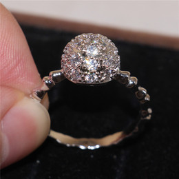 Wholesale Ball rings sterling silver Jewellery Luxury Women Designer Rings unique jewelry Pave With Cubic Zirconia