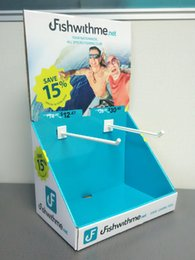Wholesale Excellent Customized High quality cerulean table cardboard hook display box for fishfeed in supermarket