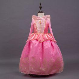 Wholesale PrettyBaby New Arrivval Sleeping Beauty Princess Dress Aurora Princess Dress Children Dresses Christmas Dress