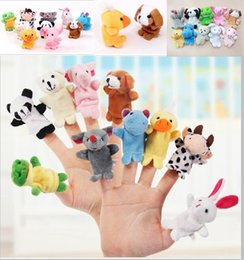 Wholesale 1000pcs DHL Fedex Velvet Plush Finger Puppets Animal puppets Toys finger puppet Kids Baby Cute Play Storytime Assorted Animals