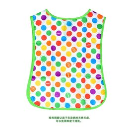 Wholesale Crayola Art Smock Tablier D artiste My First apron pinafore for kids A21