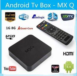 MXQ MXG MXS TV BOX Amlogic S805 Quad Core Android 4.4.2 Airplay Programs Media Player KODI14.2 15.2 Rooted