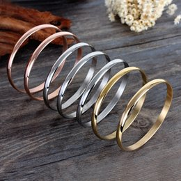 Fashion 7pcs in one set charm bracelet stainless steel gold,rose gold,steel color stackable bracelet bangles for women