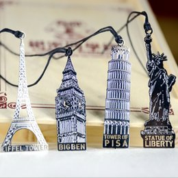 Wholesale Free ship pc ancient architectural metal bookmarks Big Ben Leaning Tower of Pisa Liberty tower book marks