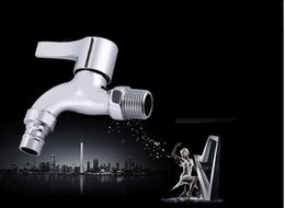 Wholesale Full copper washing machine taps quick opening single cold faucet mop pool faucet