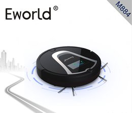 Wholesale Eworld New Design Dry Function and Robot Installation Robot Vacuum Cleaner M884 Black with Automatic Recharge Side Brushes