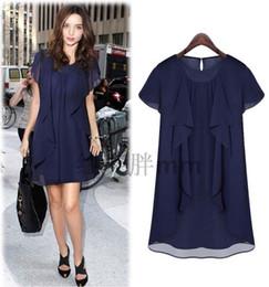 Promotion bleu peplum robe noire Bleu Femmes Robes en vrac Automne Automne Ol Slip Mini Robe Sexy Rouge et Noir 4xl 5xl 6xl 100 KG disponible