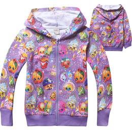 Wholesale Shop Kids Clothing Winter - Shop Fruits Family Kids Zip-Up Hoodes 2Colors Cartoon Zipper Hood Girls Spring Autumn Outwear Casual Clothes Kids Gift 3PCS LOT COLOR