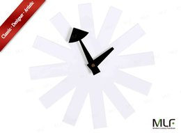 Wholesale MLF reg Asterisk Clock in White George Nelson Designed Antique Retro Wall Clock All Nelson Series Available