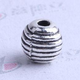 Mini streak oval Spacer bead charm 1000pcs lot 6*6mm antique silver bronze Zinc Alloy for DIY pendant Jewelry Making Accessories 2507