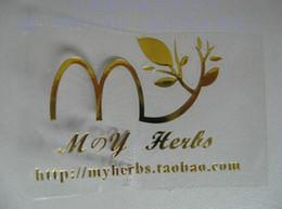 Des étiquettes en feuille imprimées en Ligne-Logo imprimé personnalisé étiquette en pvc transparent étiquette en aluminium doré ou argenté étiquette en pvc transparent