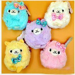 Wholesale 2016 new hot sale Cute Alpaca Japan Amuse Alpacasso Arpakasso Coin Purses Wallet Plush Toy Plush Stuffed Doll cm