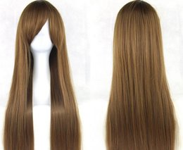Halloween cosplay role-playing color long straight hair wigs anime wigs the new 80 cm