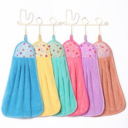 Wholesale 2016 New Elegant Quick Dry Wipe Hand Towel Candy Color Hanging Wash Bath Towel WA0699