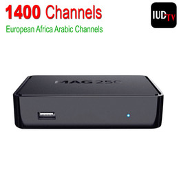 Wholesale Linux IPTV Box Mag Iptv Set Top Box Europe Arabic IPTV Account Include Sky Greek Portuguese Spanish Indian English Channels