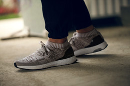 Wholesale 2016 UK Trainers Ultra Boost UNCAGED On Feet Running Shoes Beige Cream Colored Ultra Boost Shoes Sports Shoes Hypebeast X New Athletic