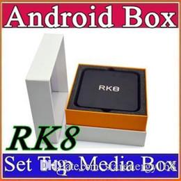 Wholesale RK8 Octa core Android Smart TV BOX RK3368 TV Box GB GB H Bluetooth WIFI XBMC Helix Support RJ45 HDMI A TB