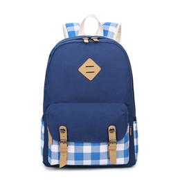 Wholesale Winner Brand Design Plaid Printed Backpack Women Canvas Backpack Casual Laptop School Back Bags for Teenagers Rucksack