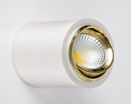 Wholesale NEWS Dimmable Led COB Ceiling led downlight W W AC85 V Warm white K surface mounted Indoor Lighting AC85 V