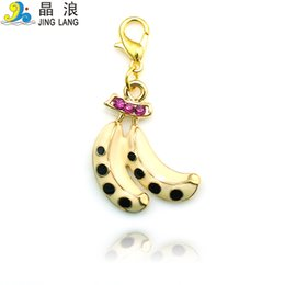 Wholesale DIY New Arrival Top Selling for Price High Quality Color Painting Banana Pendant With For Women Bracelet Necklace Accessories