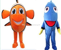 Wholesale New Finding Nemo Lovely Dory Fish Mascot Costume Hand made Party and Promotional Supply Adult Size