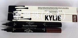 Wholesale New Arrival kylie double eyeliner side HOT MAKEUP Eyeliner Liquide Pencil waterproof Black and brown