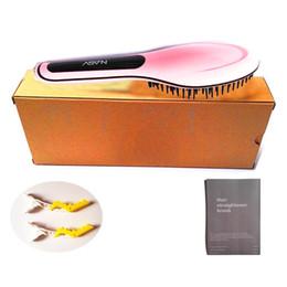 100% Original NASV Brush Comb Beautiful Star NASV Hair Straightener Brush Tool Straightening Irons Digital Temperature Controller with LCD