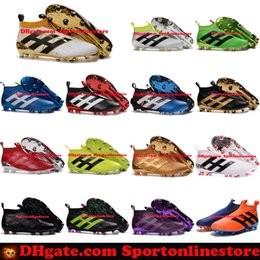 Wholesale ACE Purecontrol FG Football Boots Soccer Boots Mens Laceless Soccer Cleats New Cheap Best Quality Football Soccer Shoes Stellar Pack