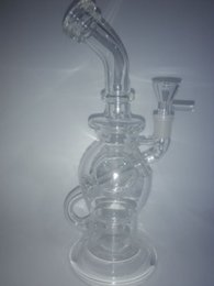 """CLEAR high quality 10"""" ball rig glass bongs joint size 14.4mm glass smoking pipes"""