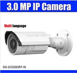 Wholesale Hikvision MP DS CD2635F IS to replace DS CD2632F IS IP Camera mm Vari focal Lens IR Outdoor With audio alarm POE