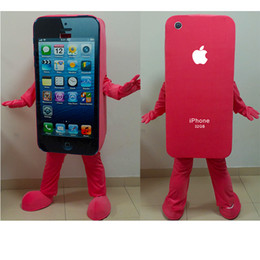 Wholesale 2016new Brand New High Quality EVA Material Iphone Mascot Costume Mobile Phone Mascot Costume Cellphone Mascot