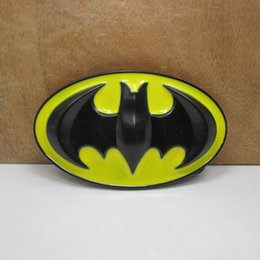 BuckleHome batman belt buckle with yellow enamel with black coating FP-02870 free shipping
