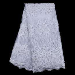OT003 Nigerian Lace Fabric High Quality African French Net Lace Fabric With Stones Embroidery Cord Lace Trim For Women