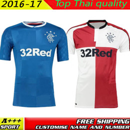 Wholesale 2016 Scotland Glasgow Rangers Jerseys home away Maillot de Foot top thai quality Scotland shirts