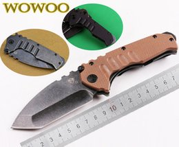 Wholesale 3 Styles Medford Armored Forces Praetorian Stonewash Steel Army Green G10 Handle Folding Knife OEM EDC Camping Tools Outdoor Gear Knives
