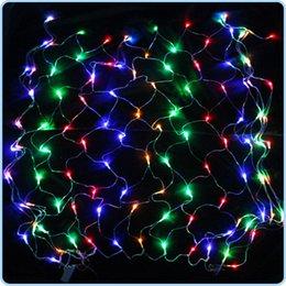 Wholesale 120 or LED V Net Mesh String Light Led Strip Christmas Wedding Festival Garden Decorative Lights Holiday Lighting Garland