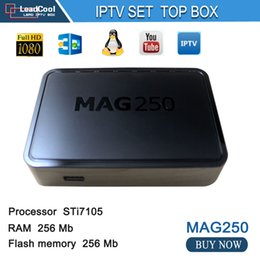 Wholesale Best Linux IPTV box Mag ip tv set top box Media player support Wifi usb connector Cable Not include IPTV account mag250