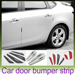 Wholesale 4PCS Car Carbon Fiber Protector Auto Car Rearview Mirror Side Door Bumper Carbon Fiber PU Surface Anti Rub Door Edge Strips