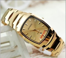 RHDD tungsten steel strap watch men and ladies watches nail drill face waterproof watch business couple tables