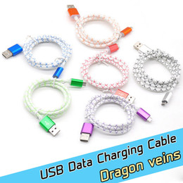 Wholesale Outlet m ft dragon veins Micro USB Charging Data Cable Charger Sync Data Charger Cords Line usb cables For Samsung iphone phones
