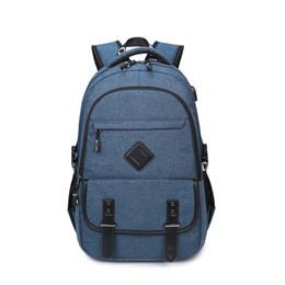 New backpack USB backpack men's fashion men's computer bag